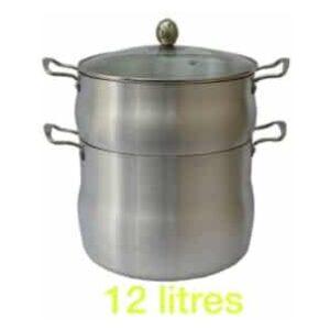 Couscoussier en inox 12L