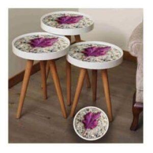 Ensemble 3 petites tables...