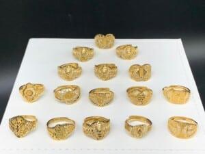Bagues plaquées or