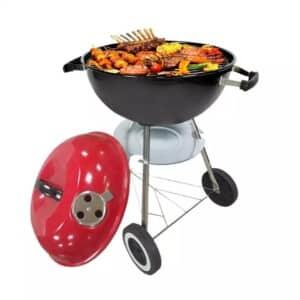 Barbecue à Charbon (Barbecue rond avec couvercle et roues)