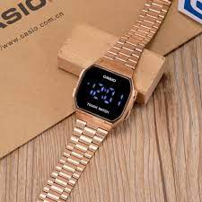 Casio Touuch Watch Gold-Rose Gold